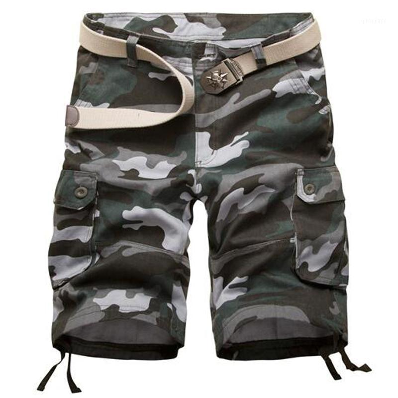 Мужские шорты высокого качества мужские грузы повседневные хлопковые камуфляж короткие камуфляжные бермуды Homme летний размер 29-42 (без ремня) 1