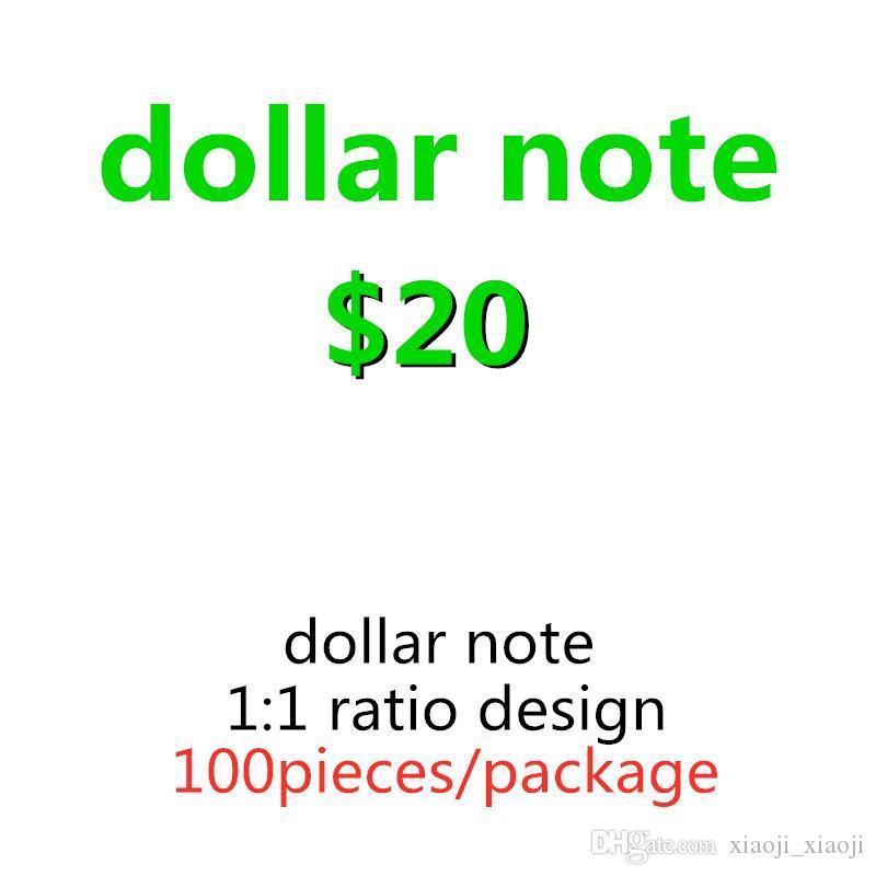 Prop-Spielzeug Sonderzählung Großhandel Dollar Geld Lernen Banknote Spiel Prop-Spiel Kinder Film-Tool 20-Familie 19 JTGXJ