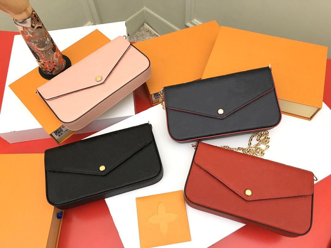 Leder Kreuz Body Bag Dreiteilige Taschen Mode Umhängetasche FrauenPresbyopie Mini Bag Frauen Karten Taschen Zero Brieftasche Großhandel