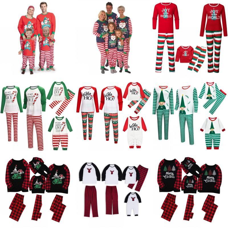 Natal da família Pijama Define Dad Mom crianças da família do bebê Matching Pijama Party Night Natal Pijamas Natal AHA1839 Wear