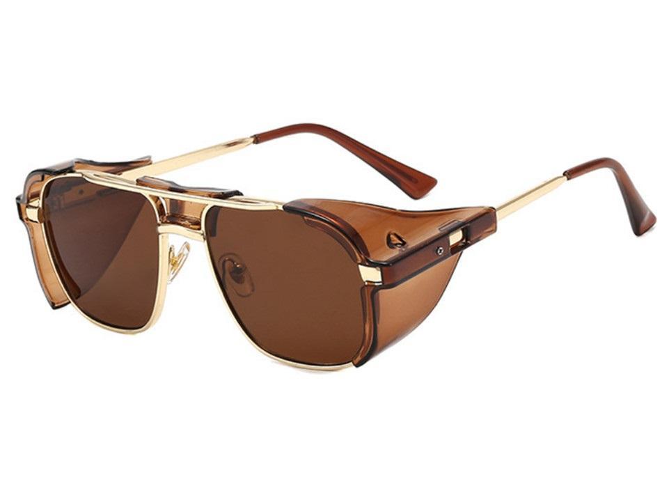جودة عالية البخار الشرير نظارات نظارات الرجال النساء شادات باردة الرجعية جولة نظارات الشمس النظارات العظمى الحماية الأشعة فوق البنفسجية 9817 مع مربع
