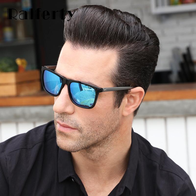 Ralferty Sunglass Square Водитель Мужские Солнцезащитные очки Oculo Brand Дизайнер 7031 Солнце Мужчины Поляризованные Очки UV400 Очки Женщины Polaroid Lanoh