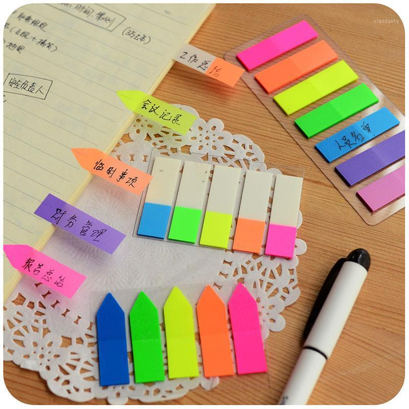 3pcs / lot Kawaii Rainbow Index Notes Notes Notes Sticky Notes Cute Memo Pads Sticker Maker Maker Maker School Stationery1 imtui