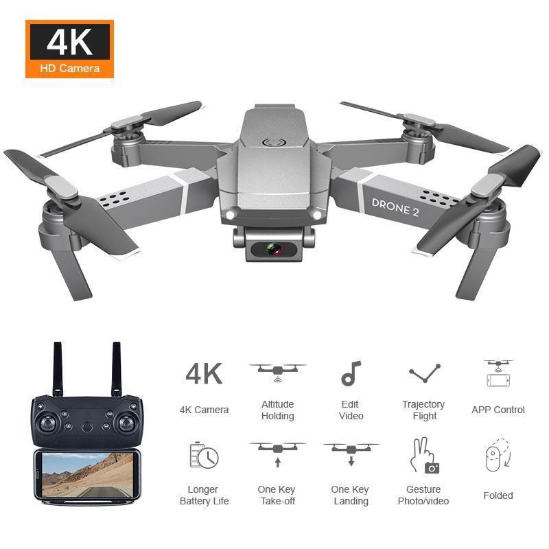 NEW E68 미니 드론으로 HD 4K 1080P 카메라 WIFI FPV 광각 RC 드론 하이트 홀드 모드 RC 접이식 쿼드 콥터 헬리콥터