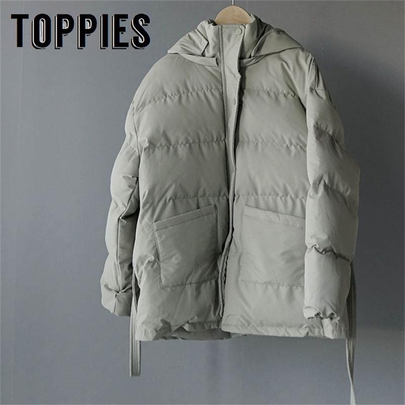 Femme hiver manteau coréen mode coton coton rembourré femelle à capuche à capuche à capuche Y201012