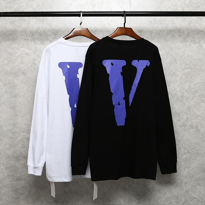 V T-Shirt Pullover Lone Big V Destruction T-shirt American Style Style Hip Hops Ins Uomo e pullover da donna Allentato Maglione hip-hop 4E0UR 4