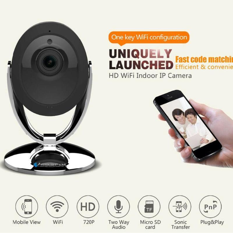 BEESCLOVER C93S Wifi Caméra IP 1080P Night Vision Audio Détection de mouvement Smart Home Webcam Moniteur vidéo R57-caméra IP