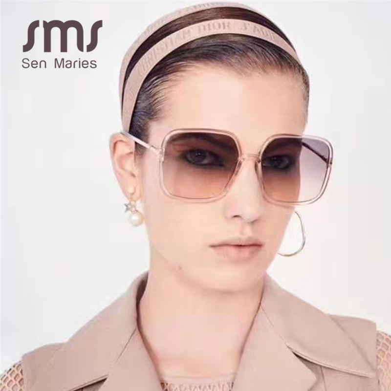 Fashion Square Lunettes de soleil Hommes Femmes 2020 New Vintage Gradient unique objectif Femme Homme Lunettes Shades UV400