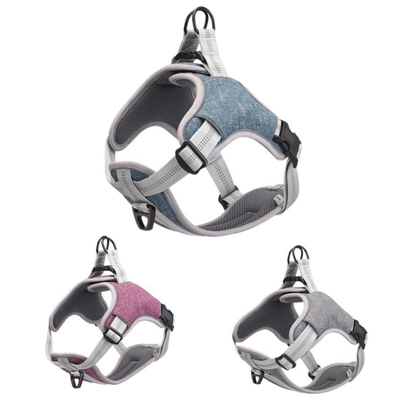 Nylon reflectante PET DOG ARNY ARNY VESTIDO AJUSTEBLE TRIBUBLE MESH PERRO DE SEGURIDAD DE PERRO DE PERRO CAMINO DE ARBIOS Suministros para pequeños perros medios 201126