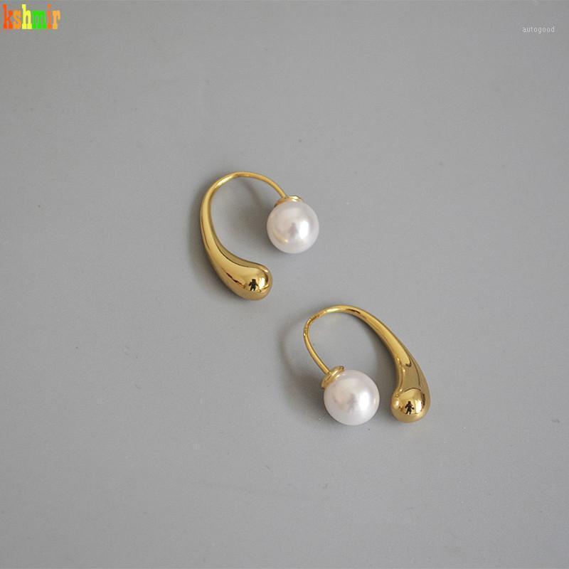 Kshmir2020 1.5cm Boutique Design Esférico, Moda, Brincos Femininos Brincos De Ouro Brinco Pérola Gancho Destacável Brinco Girl EarClip1