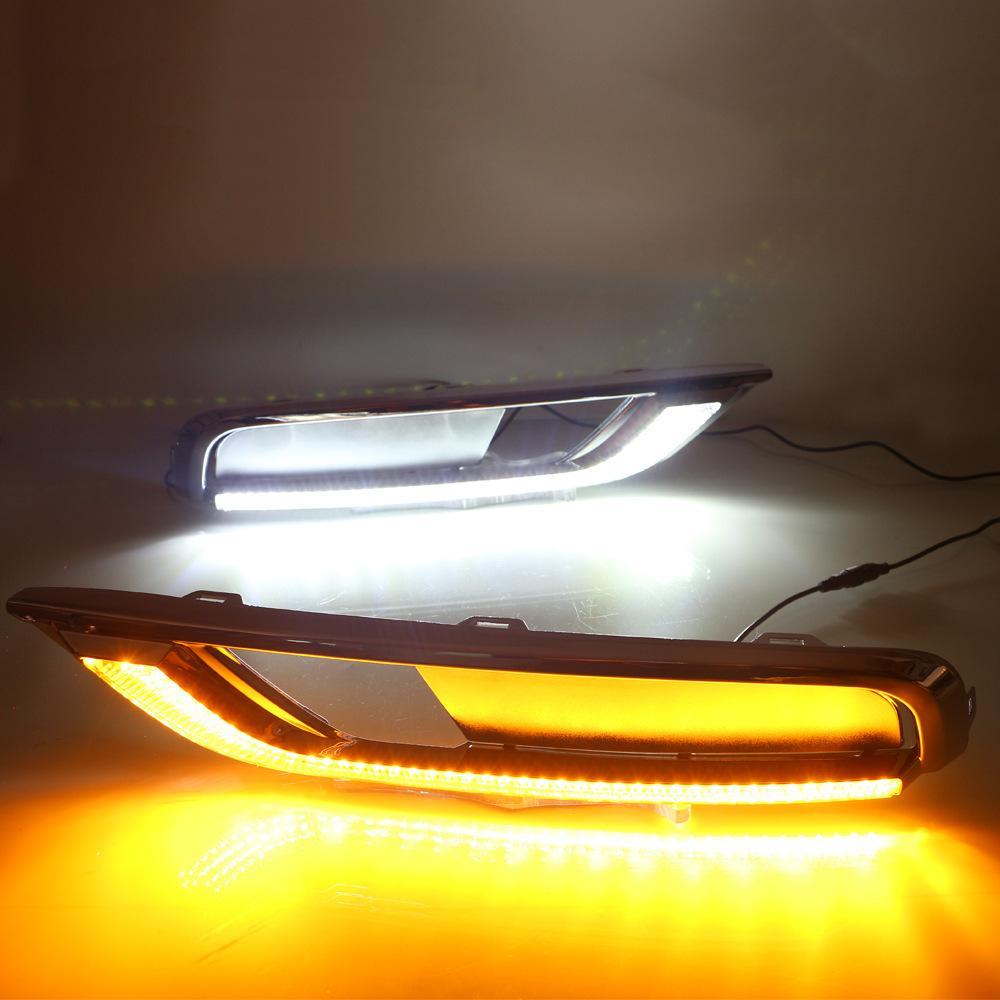 LED DRL Daytime Light Light Дневной свет Желтый поворот сигнал лампы стилистой противотуманной лампы подходит для 2015-2016 Honda CR-V CRV CRV