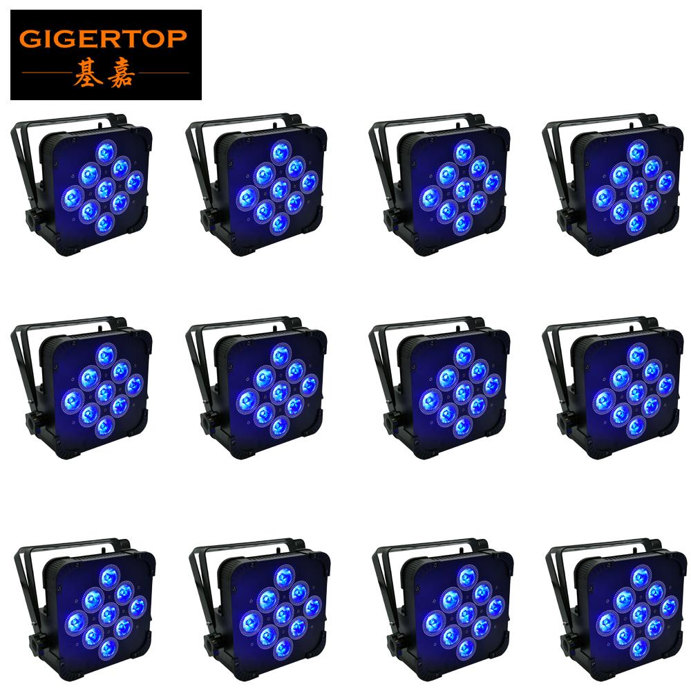 Hızlı Kargo LED Düz Par 9x15W RGBWA Aydınlatma İçin DMX512 Sahne Efekt Profesyonel DJ Ekipmanları Ve Parti Dance Floor Disco