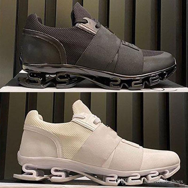 Luxurys desginers homens plataforma calçados triplos preto branco vermelho couro genuíno couro ao ar livre sapato casual moda mens treinadores sneakers