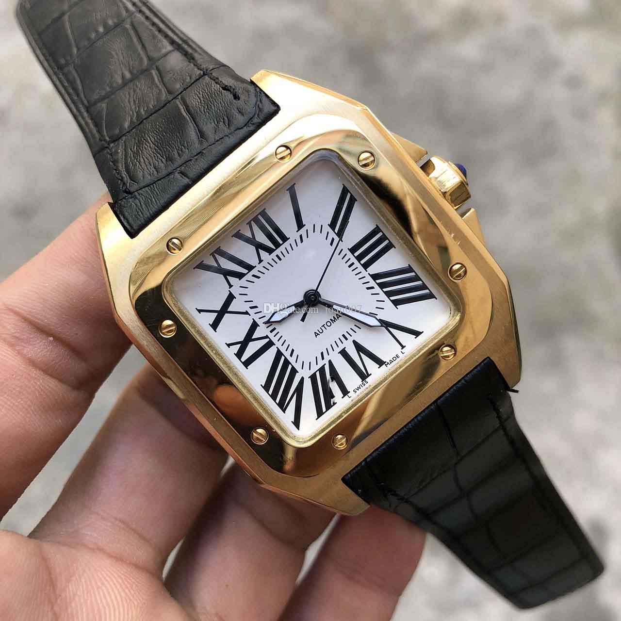2019 montres montre en acier inoxydable 2813 Mouvement automatique Cas d'or mécanique Homme Sports Montres Montres Montre pour hommes