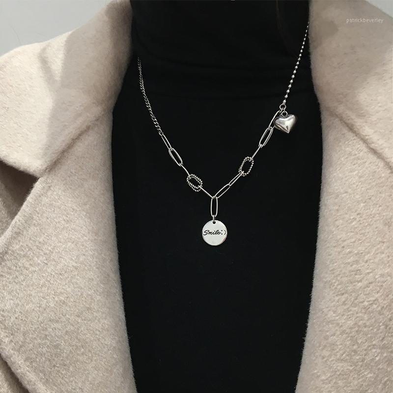 Anhänger Halsketten S925 Sterling Silber Brief Halskette Geschenke für Frauen Aussage Modeschmuck Valentines Freies Shiping Wholesale1