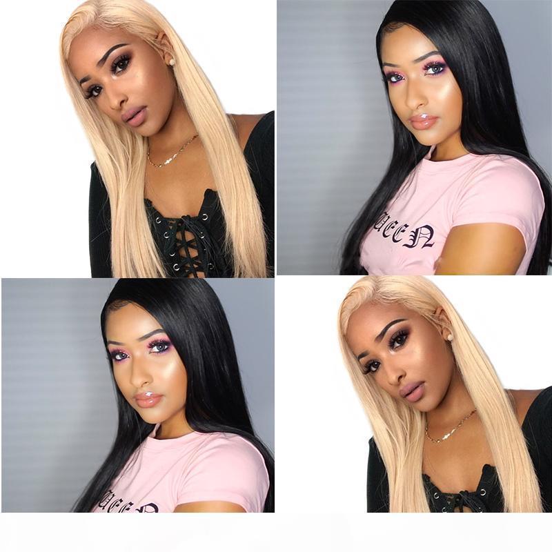 360 Lace Frontal perruque 613 Lace Front perruques de cheveux humains Honey Blonde naturelle Noir droite coloré transparent dentelle perruque Dolago