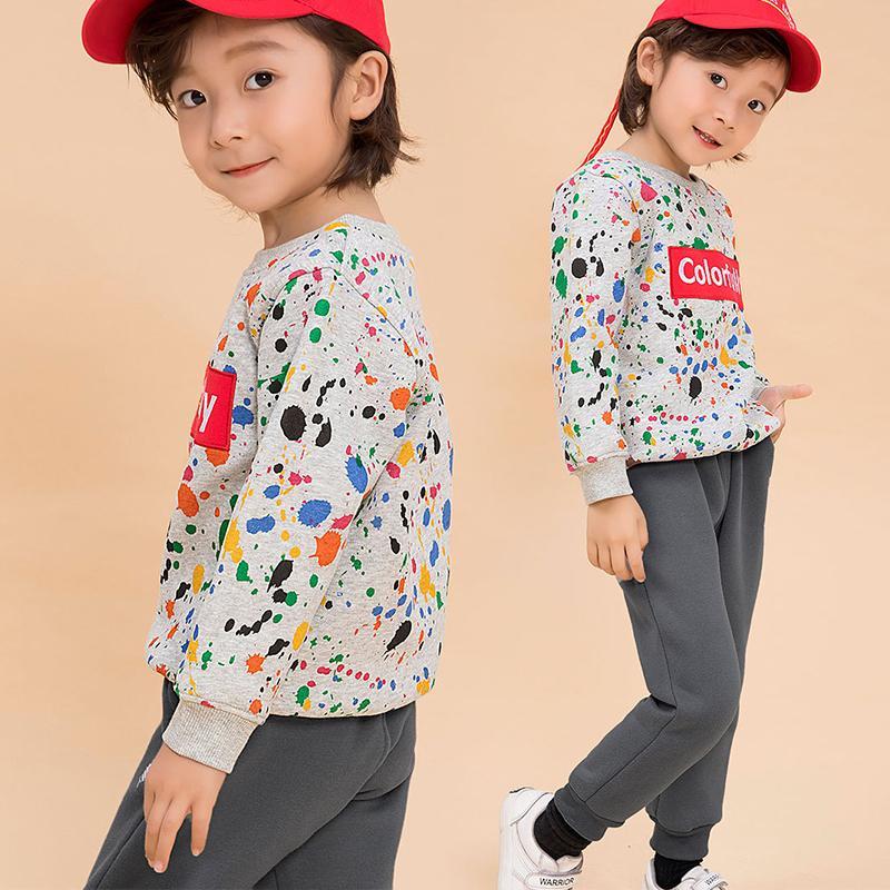 Autumn/spring Baby Boy Clothing Sets Girls Children Velvet Warm Set Kids Clothes Cartoon Coats+ Pants Suit Sport Clothing LJ200831