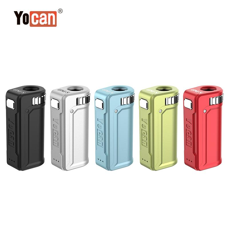 Authentic Yocan UNI S Mod Battery Adjustable Diameter Preheat 400mah VV Variable Voltage 5 Colors Pro E-cigarettes