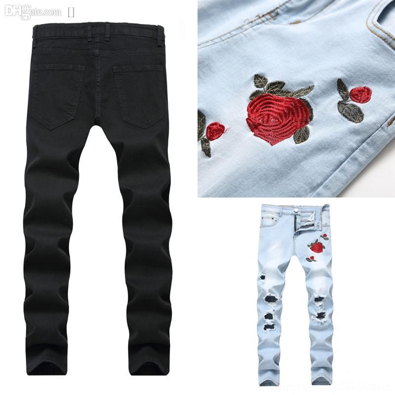 Entfi Mens Hohe lässig Elastische dünne Denim Jeans Lange Slim Füße Männliche Baljeans Blaue Wäsche Elastische Bleistift Hosen Stretch Cargo