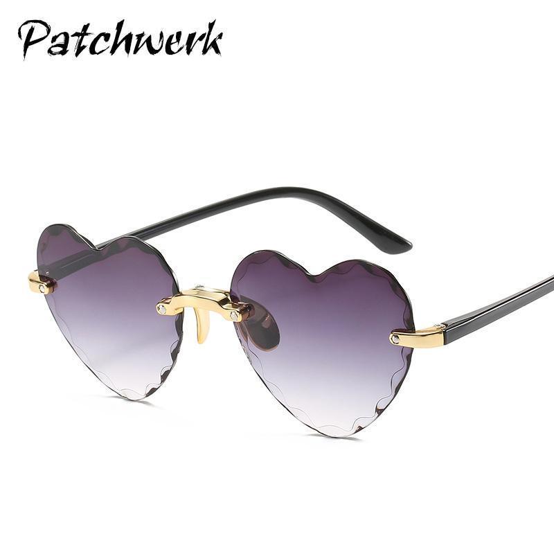 2020 nouvelles lunettes de soleil en forme de coeur de style dames bord coupe cerclées de lunettes de mode en forme de coeur
