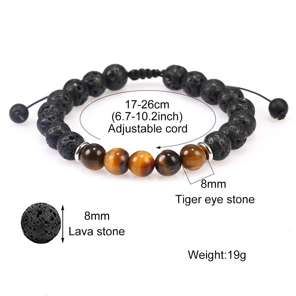 Заводская цена браслеты мода 8 мм черный лава из бисера натуральный тигр глаз вулканический камень ручной работы вулканистые бусины йоги брасель