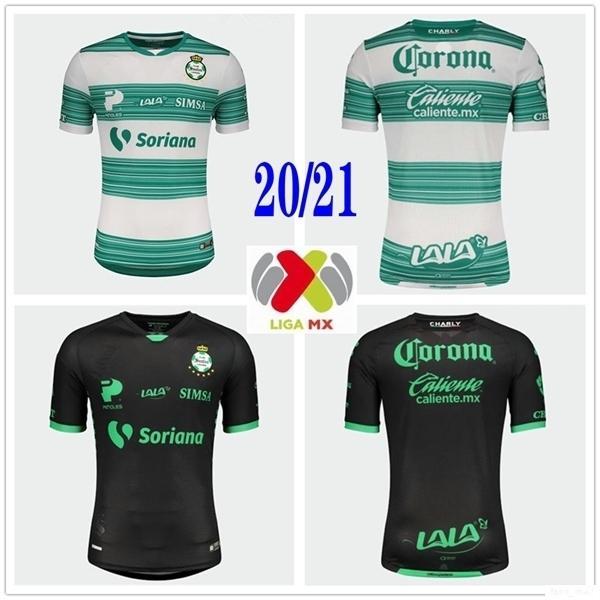 2020 Nova LIGA MX Clube Santos Laguna Futebol Casa Fora Personalizar 20 21 Tailândia Qualidade Football Shirt Uniforme