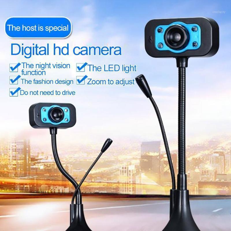 Webcams HD Webcam USB Web Câmera com Ruído Cancelando Microfone 360 Graus Rotação 640x480P1