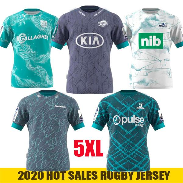 NCAA NOUVEAU 2020 ouragan Crusades Highland Chef Highland Chief Super Rugby League NRL Jersey 2020 Effectuer une maillée pour hommes Taille: S-5XL
