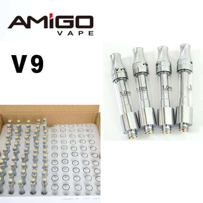 AMIGO ITSUWA LIBERTY V9 VAPE CARTIDRIDGES 0.5ml 1.0ml Cerámica Bobina Vaporizador Top Flujo de aire Ajustable Vape Vape Pen Atomizer 510 Carros ECIG
