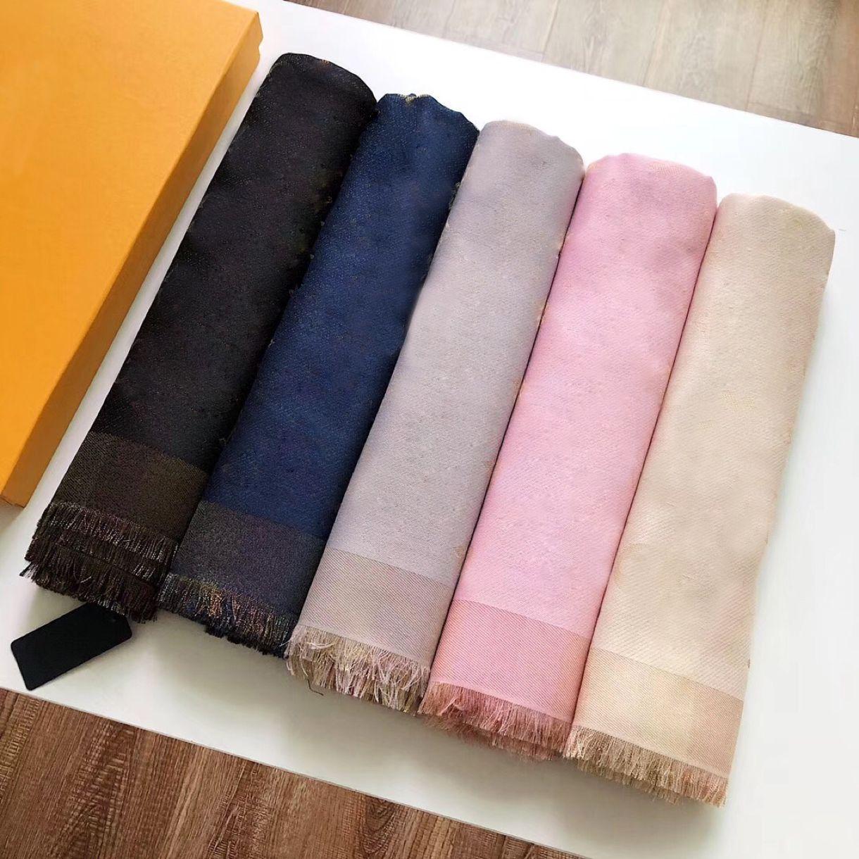 Sciarpa a maglia con sciarpa a maglia da donna di alta qualità Sciarpa a maglia Scialle in cashmere Scialle in cashmere 140 * 140com materiale puro cotone, spedizione gratuita