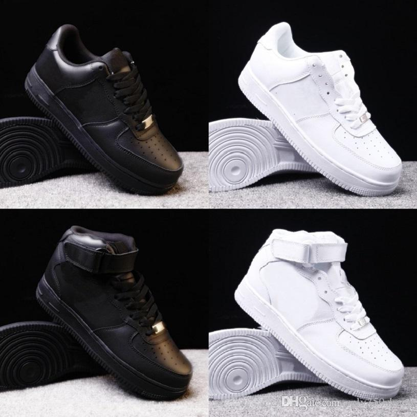 High Quality Men Low Skateboard Shoes Cheap One Knit High Women All White Black Casual Shoes