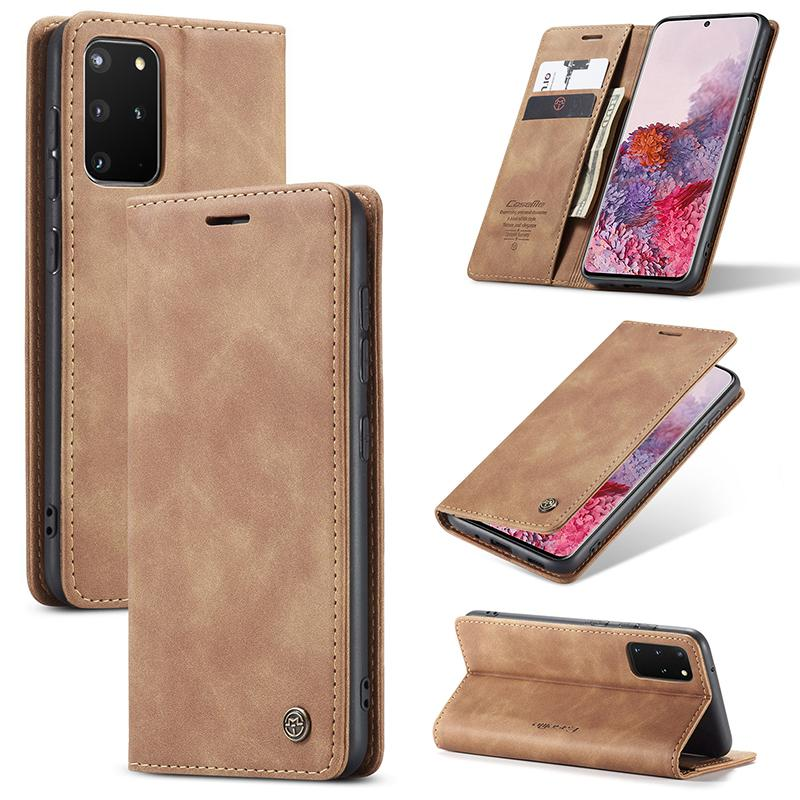 Кожаный кошелек чехол для чехол для Samsung Galaxy M10 M20 M30S M21 M31 Pocket Cash Cash Card Card Slots держатель