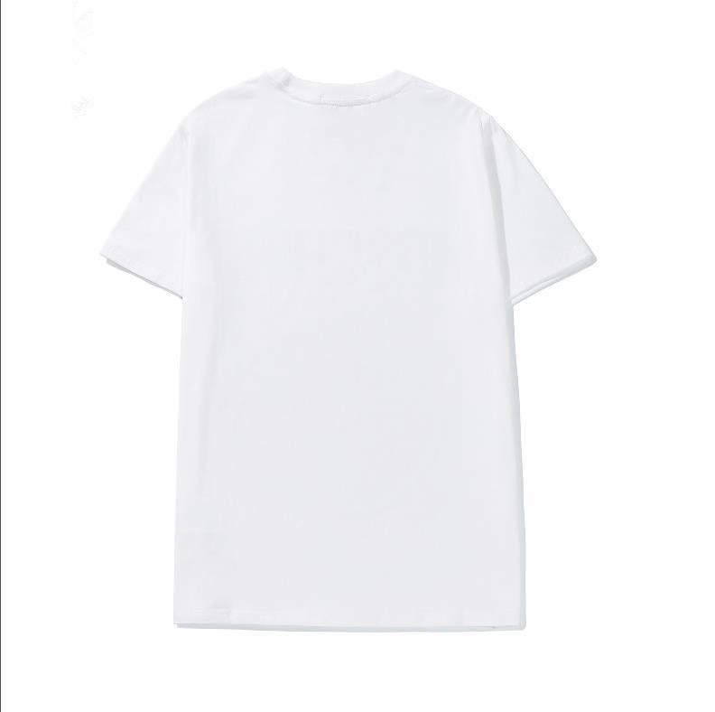 Nuova primavera e lettere estive stampate stampate t-shirt allentati con scollo a maniche corte con scollo a maniche corte S-XL