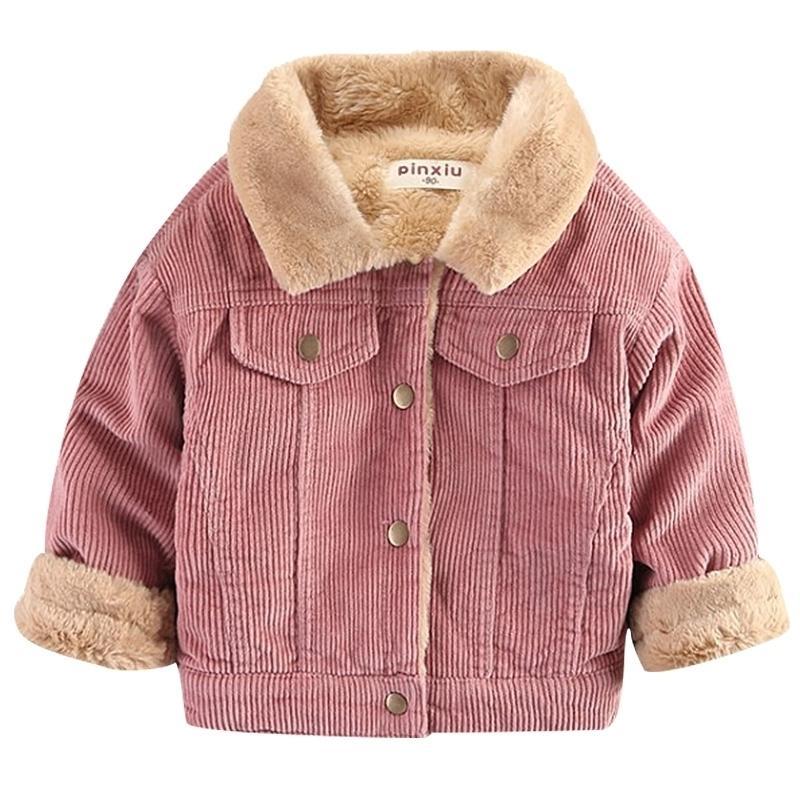 Вельвероя с длинными рукавами плюс бархатная куртка осень и зима детская одежда мальчик пальто девушка одежда детская одежда 1-6 год 201104