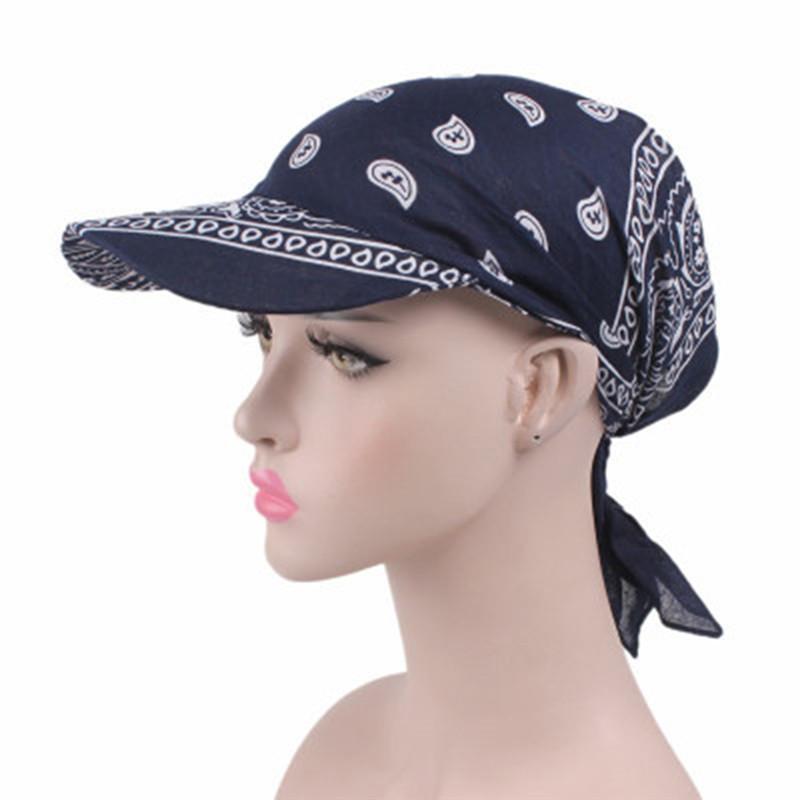 Moda Musulmán Mujeres Imprimir Gorros de Algodón Gorros Hijab Pérdida de Hair Pérdida de la quimiotera Pasquismo Envolturas Visor Cap Turban Turban Headwear