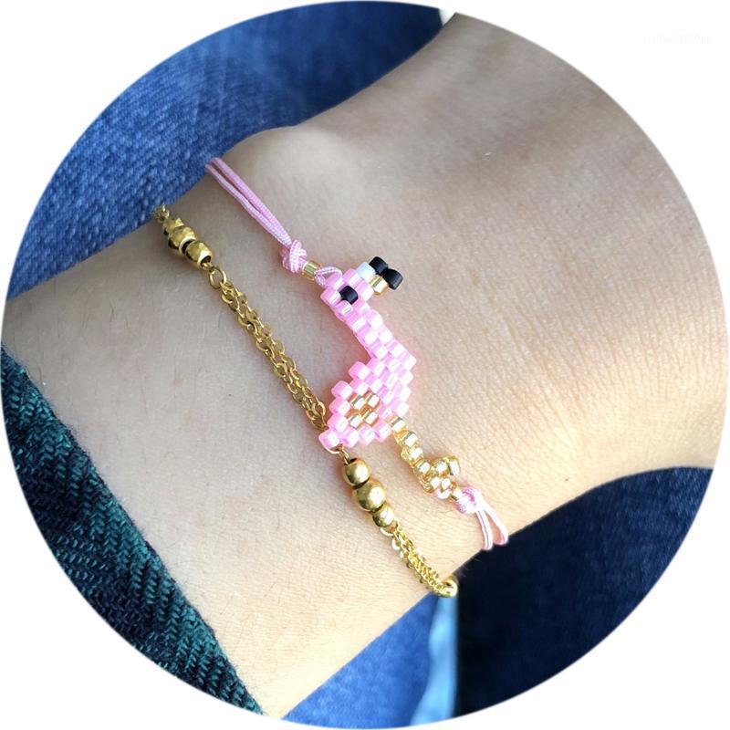 Charm Armbänder Großhandel 2021 Schmuck Miyuki Armband Frauen Accessoires Rosa Freundschaft Handgemachte Boho Schmuck Perlen Braclets 1