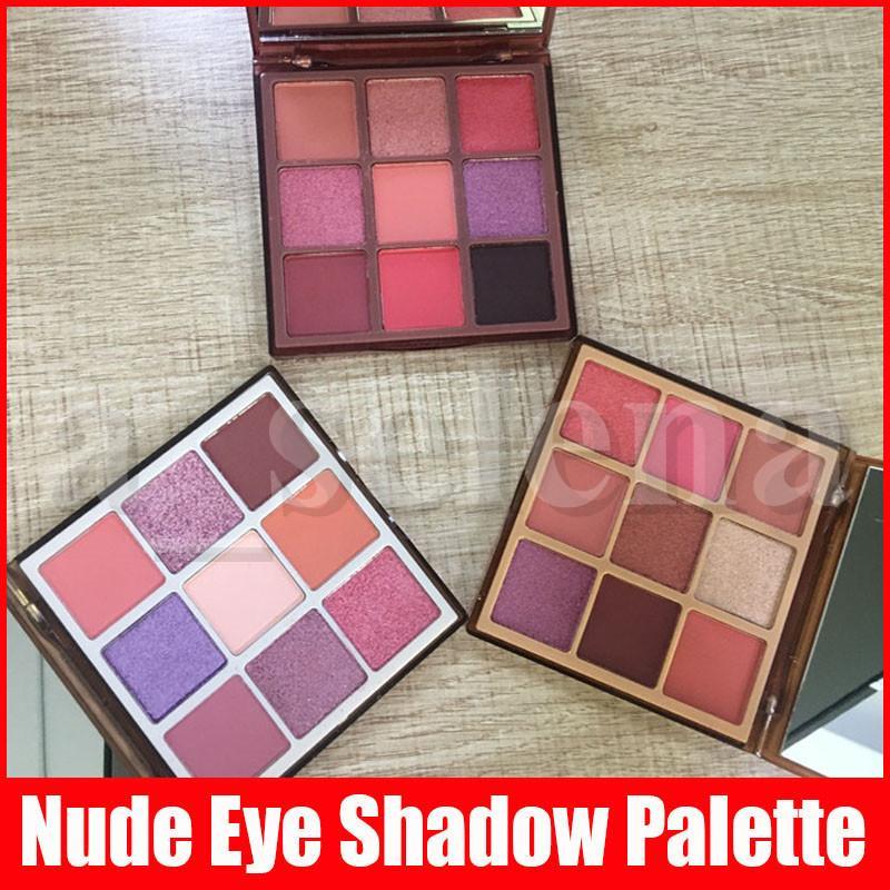 Trucco degli occhi Nuova gamma di colori dell'ombretto di scintillio 9 colori nuda opaca Shimmer Eye Shadow Palette 3 stili Rich medio leggero