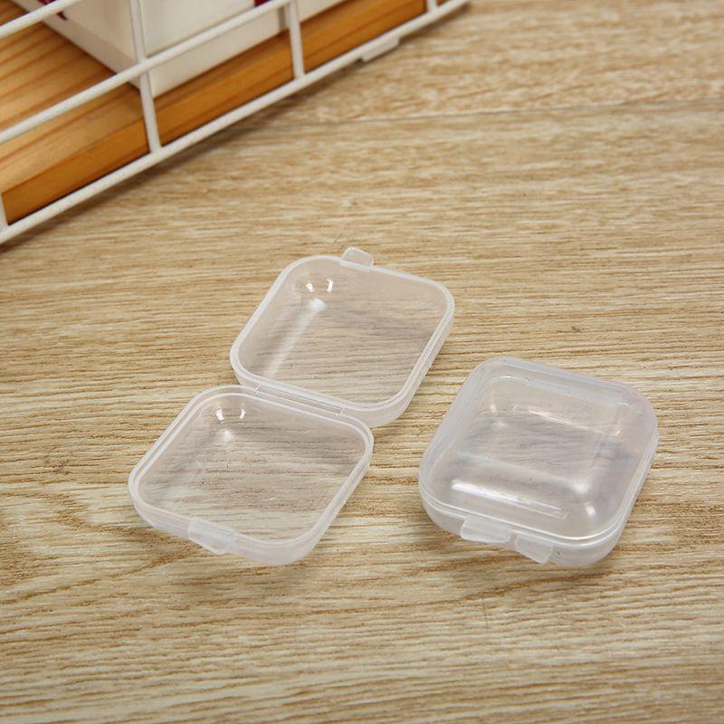 Plastikperlen Lagerbehälter - Mini Clear Square Box leerer Fall mit Deckel für Ohrstöpsel, Schmuck, Hardware oder irgendein anderes kleines Handwerk