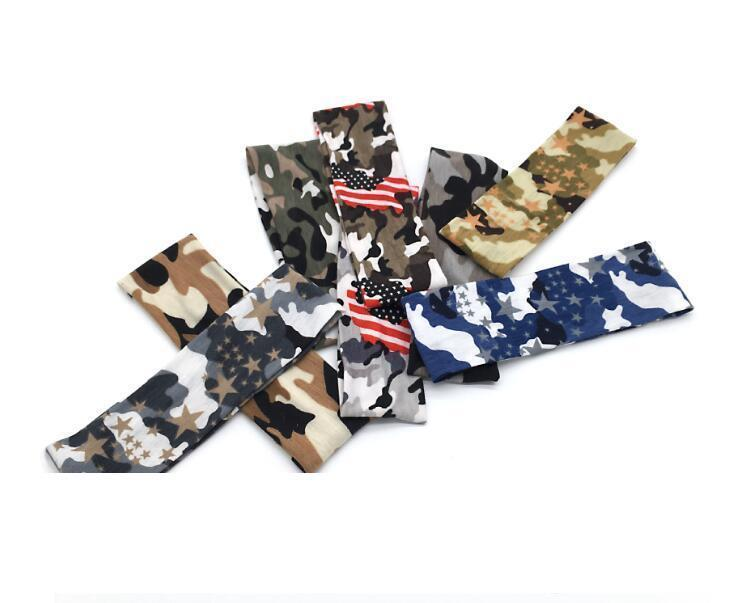 camo outdoor sports headband compression Hair Bands digital print Sports softball headbands Youth and adults fitness running sweat bands