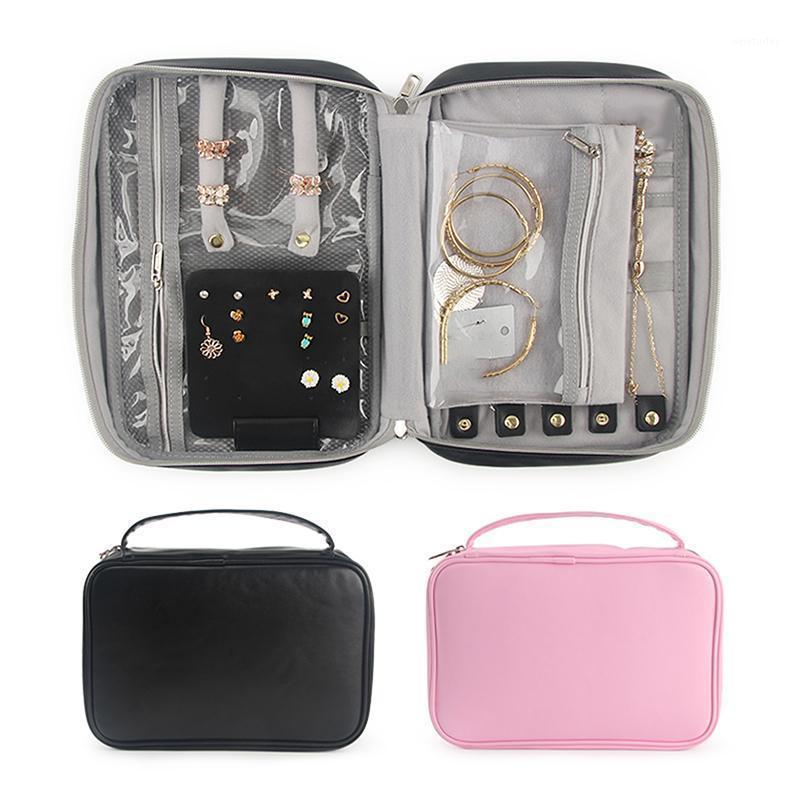 Orecchini delle donne Orecchini Caso di gioielli Grande capacità Anelli di collana Display Sacchetto di alta qualità Viaggio Portatile Zipper Zipper BAG1