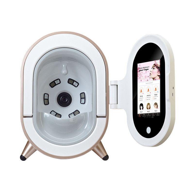 أحدث التقنيات المحمولة محلل الجلد آلة كاميرا جلد الوجه المهنية، الجيل الخامس ماجيك مرآة تحليل الجلد معدات