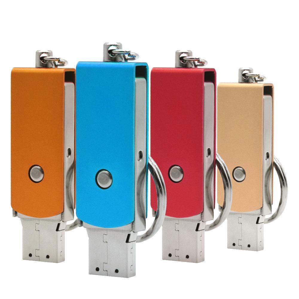 Sales de metal unidad flash USB 3.0 portátil de 128 GB Pendrive 64GB 32GB 16GB impulsión de la pluma mini logo dispositivo de memoria flash USB al cliente
