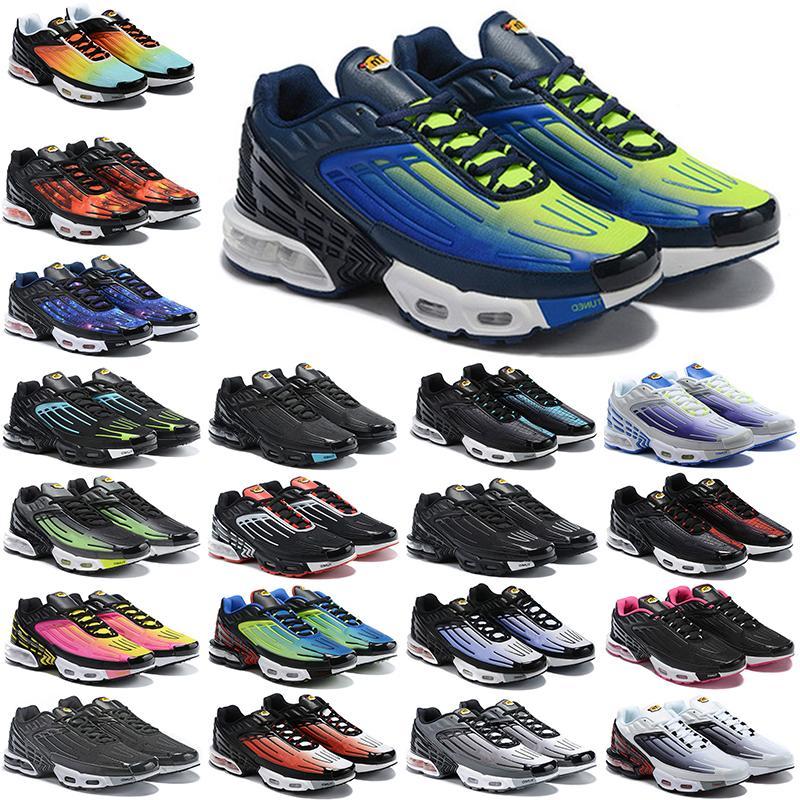 2020 TN Artı 3 III Koşu Ayakkabıları Zapatos Üçlü Beyaz Siyah Lazer Mavi Yeşil Sinek Örgü Mens Bayan Eğitmenler Sneakers Spor Boyutu 36-45