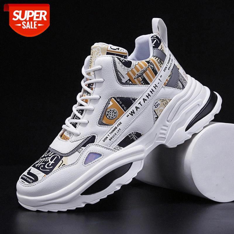Zapatillas de patinaje para hombres de invierno zapatos transpirables masculinos Alto-top cómodos deportes al aire libre de zapatillas de deporte antideslizantes de Chaussure Homme # OA0U