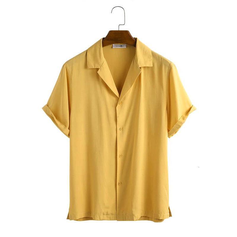Perméabilité de l'air léger Vapeur de couleur unie en 2020 Spring Chemical Fibre de Chemise Mélangée Chemise Hommes Shopping's Recommandation