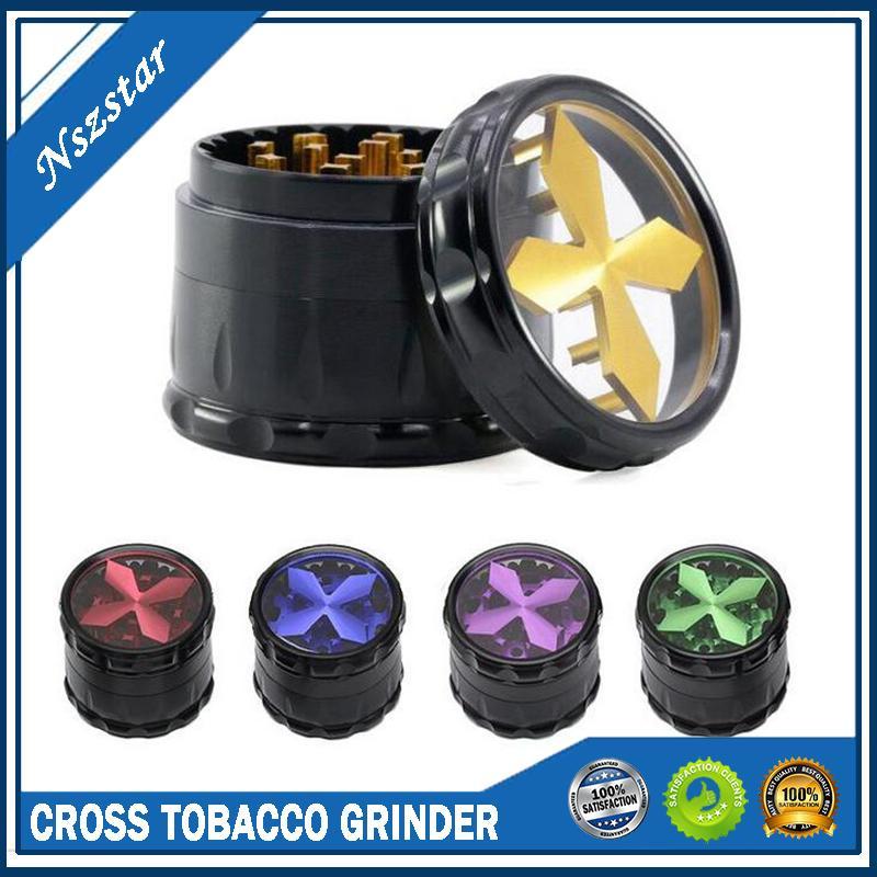 Cockper Chopper Tobacco Moedor 63mm 4 Camadas Liga De Alumínio Seco Herb Slicer Colorido Qualidade Smasher com uma janela superior visível