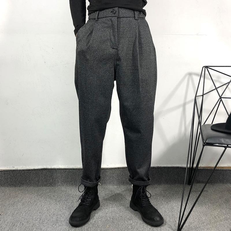 M-3XL! Winter Original Custom Fashion Herren einfache und lose alte graue Werkzeughose mit Leggings casual wilde Kegelhose