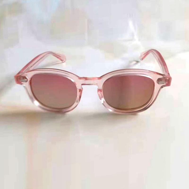 Johnny Depp rosa Sonnenbrille Frauen Brille Top Qualität Azetat Rahmen Mode Drivering Sonnenbrillen weiblich Jahrgang