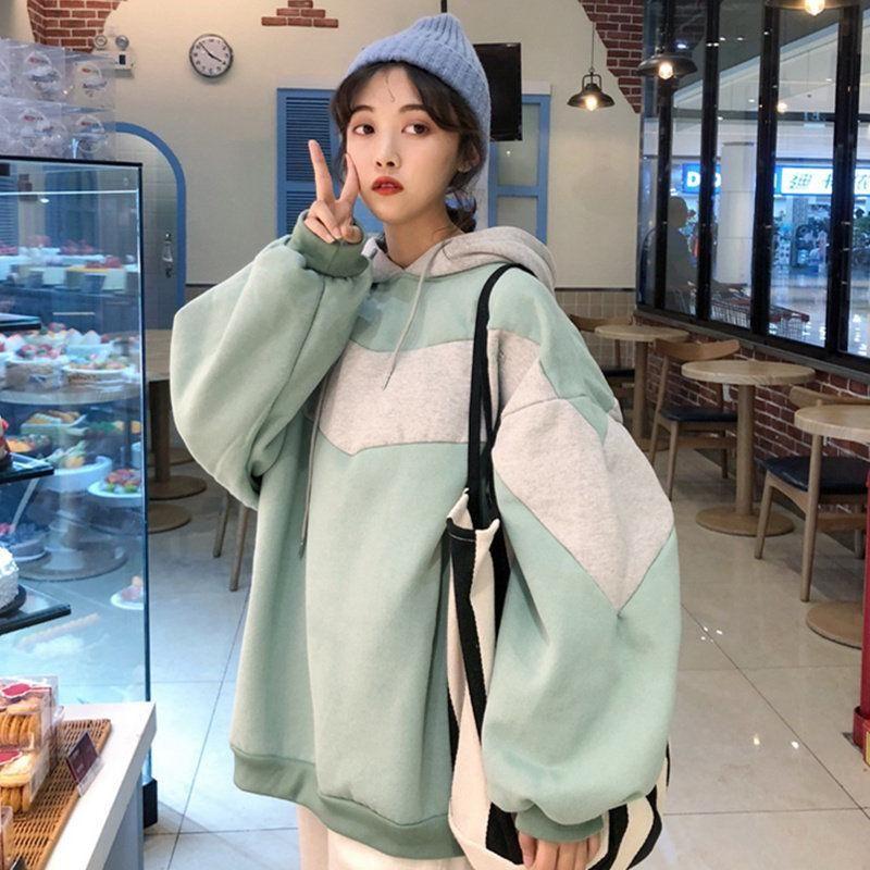 Plush and thickened new autumn and winter fashion oversized Sweatshirt oversized hoodie hoodies for teen girls