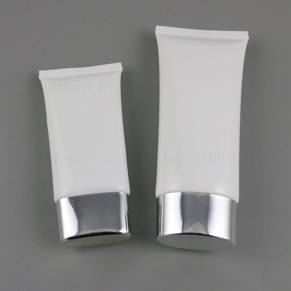 50G 100G белой ПЭТ мягкого mildy мыть или масло трубки для косметического использования 50мло 100мл крем Упаковку 30pcs